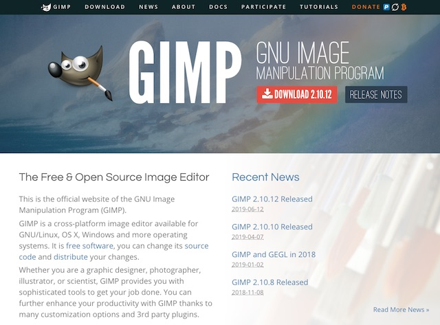 Alternative a Photoshop: Gimp (Photo credits: gimp.org