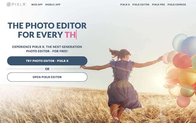 Alternative a Photoshop: Pixlr