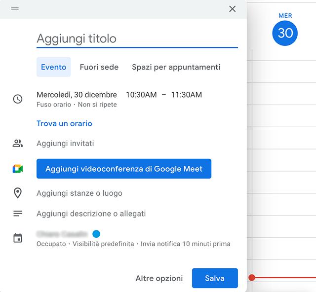 Alternative a Skype: Google Meet, aggiungere riunione