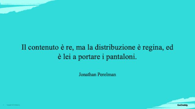Blog aziendale: citazione di Perelman