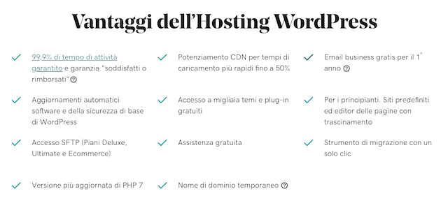 CMS: i vantaggi di hosting wordpress gestito di GoDaddy