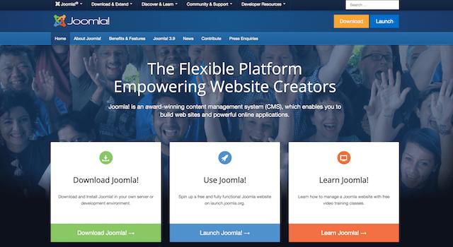 Homepage del CMS Joomla!