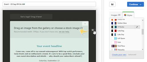Come creare una newsletter con GoDaddy: i colori