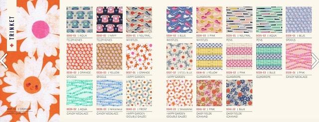 Cos'è un lookbook: esempio tessuti Cotton+ Steel