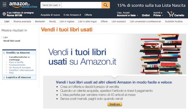 Vendere libri usati online: Amazon