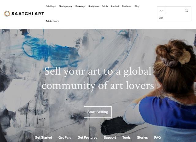 Vendere quadri online su Saatchi Art