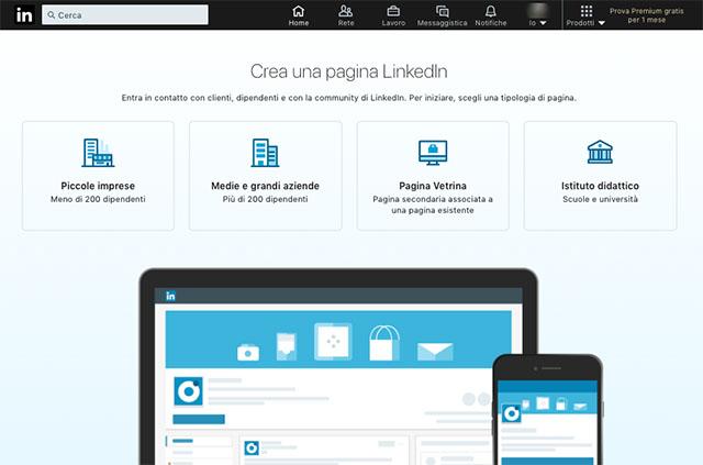Come creare profilo aziendale LinkedIn