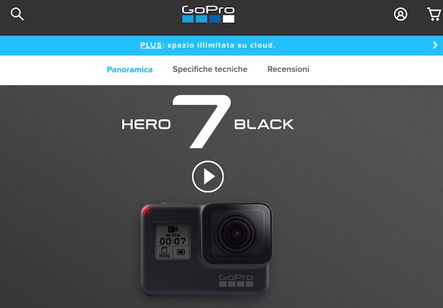 Descrizione di un prodotto: esempio GoPro7 (photo credits: gopro.com)
