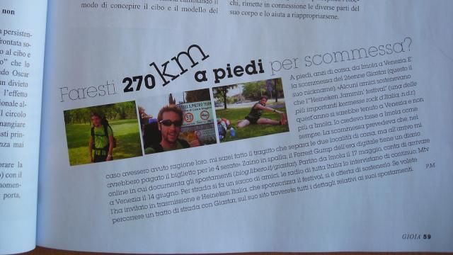 Gianluca Stamerra in un articolo del magazine Gioia