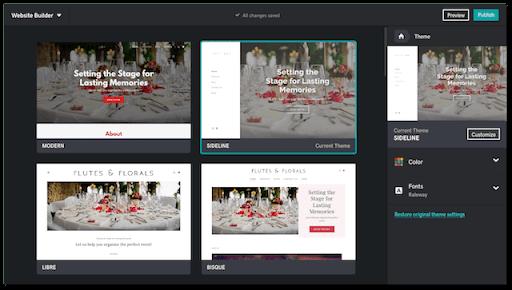GoDaddy Websites Marketing Temi Personalizzati