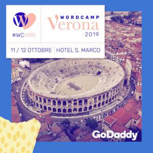 GoDaddy Silver sponsor di WordCamp Verona 2019