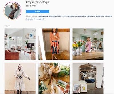 Instagram marketing: esempio hashtag
