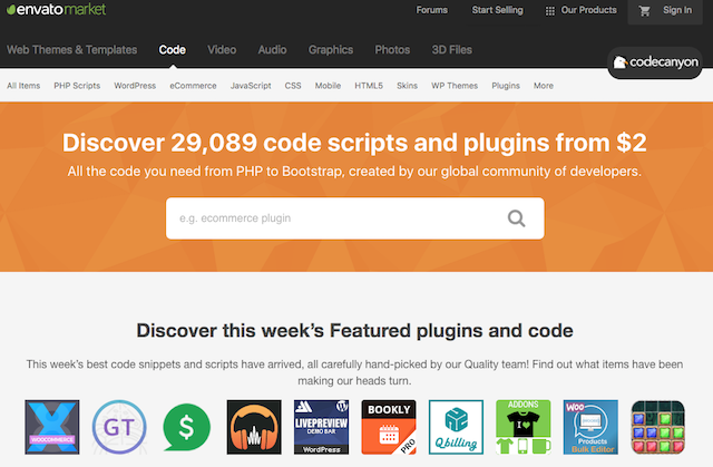 Installare plugin wordpress: codecanyon