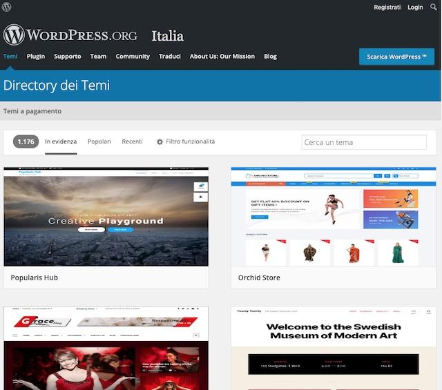 Installare tema su wordpress: directory