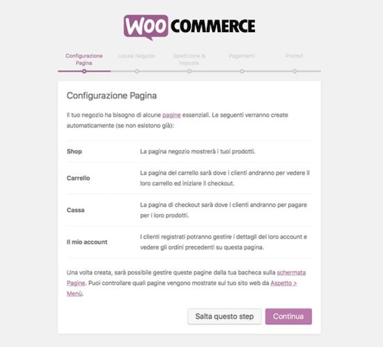 Come installare WooCommerce: impostazione