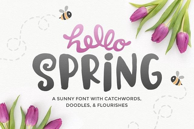Lookbook moda: esempio font primaverile creative market