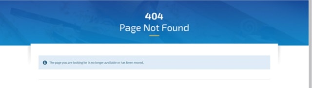 Pagina errore 404 generica