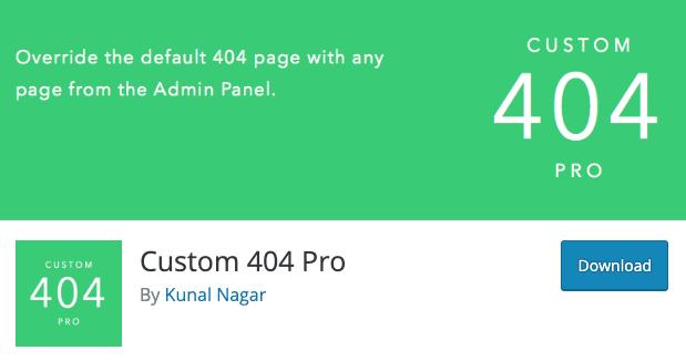 Plugin per creare pagina 404 personalizzata: Custom 404 Pro