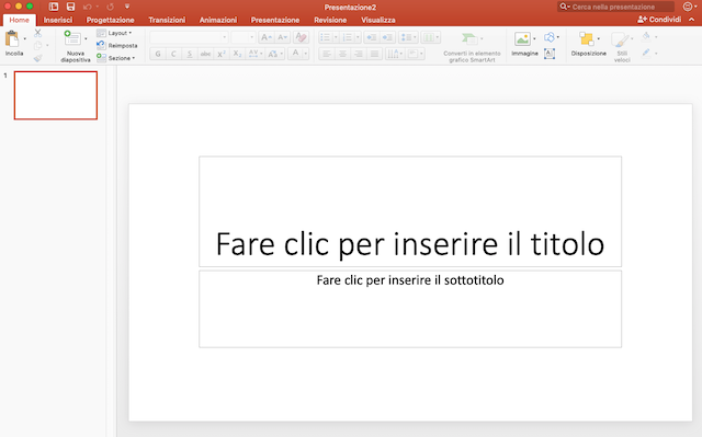 Presentazione in Power Point efficace: l'interfaccia di PowerPoint
