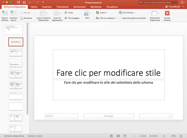 Presentazione powerpoint efficace: schema diapositiva