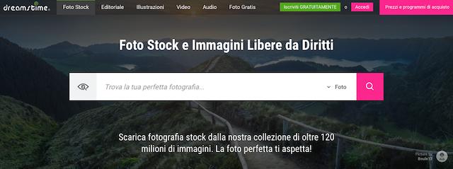 Vendere fotografie online: sito drreamstime