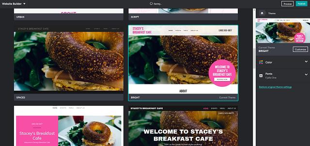Come fare un sito web per ristorante: scegliere il tema con GoDaddy
