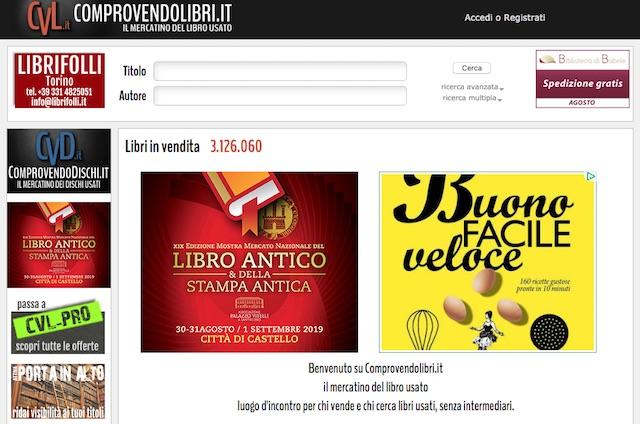 Vendere libri usati online: sito comprovendolibri.it