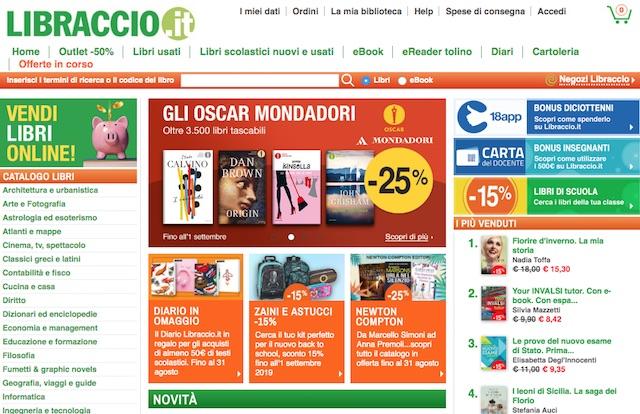 Dove vendere libri usati online: libraccio.it