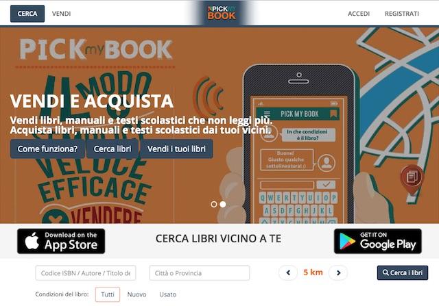 Vendere libri usati online: sito pickybook