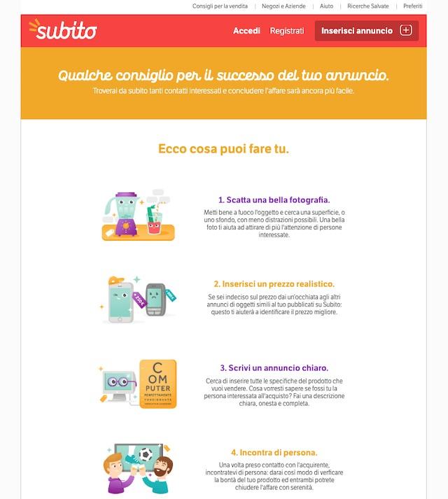 Come vendere mobili usati online su Subito.it