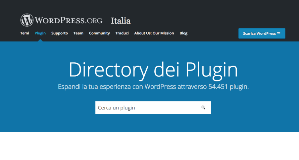 Creare un blog di successo: pagina plugin WordPress https://it.wordpress.org