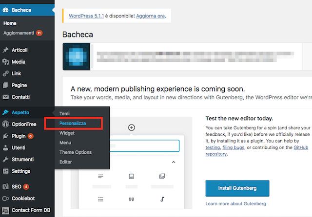 Modificare tema WordPress: personalizza