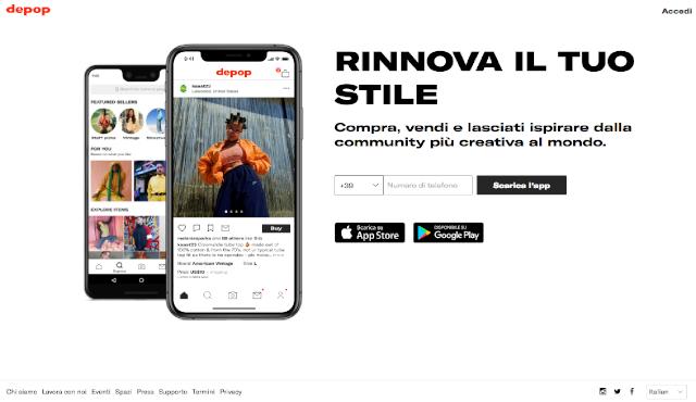 Dove vendere vestiti online www.depop.com