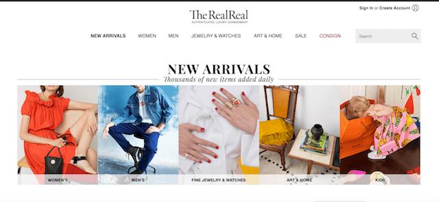 Come vendere vestiti online www.therealreal.com