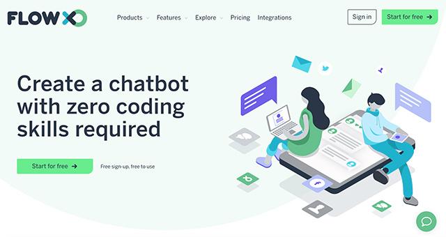 Come creare chatbot con Flow XO