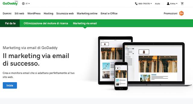 Marketing ristorazione: invia newsletter con GoDaddy