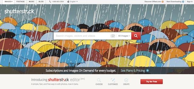 Migliori siti di immagini gratis: Shuttestock