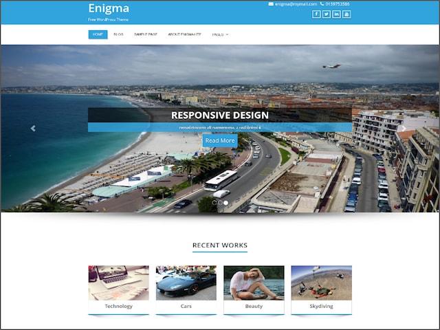 Tema portfolio WordPress: Enigma
