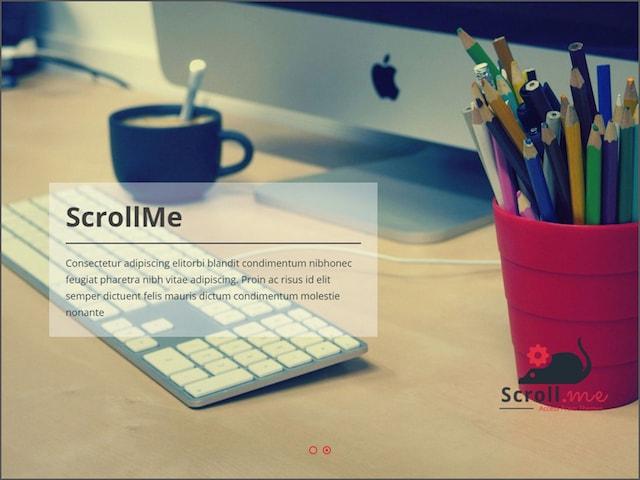Temi per portfolio su WordPress: ScrollMe