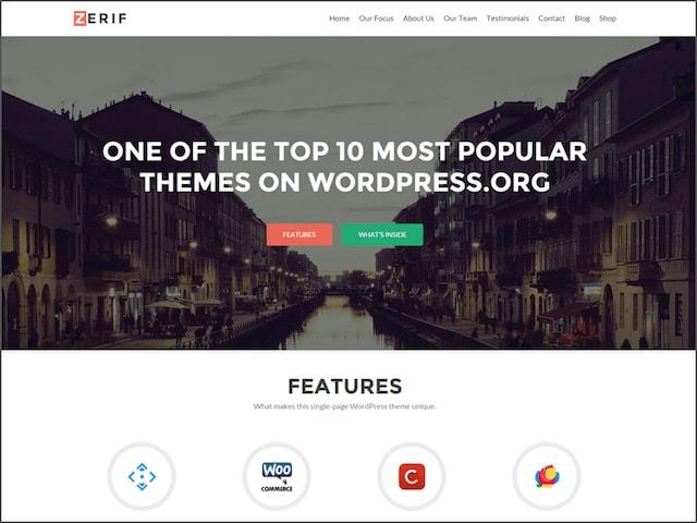 Creare un portfolio su WordPress: tema Zerif