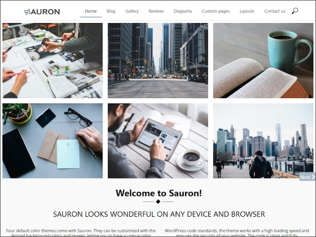 Realizzare porfolio wordpress: template sauron