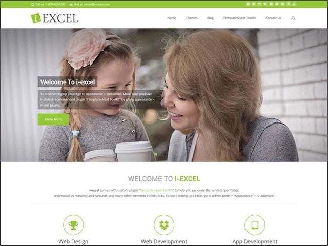 Temi gratuiti WordPress portfolio: i-excel
