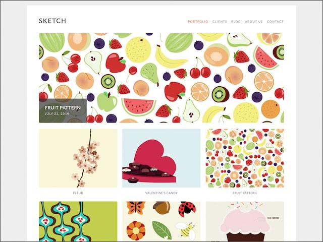 Portfolio su WordPress: template Sketch