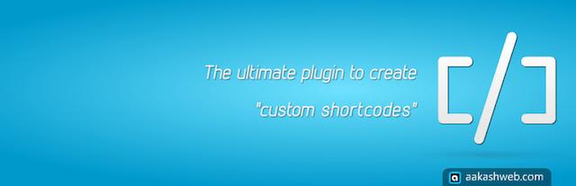 Shotcode in WordPress: plugin Shortcoder wordpress.org