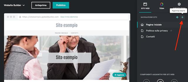 Creare siti web per avvocati: aggiungere pagine