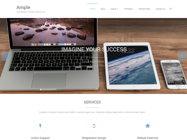 Temi gratis wordpress: ample