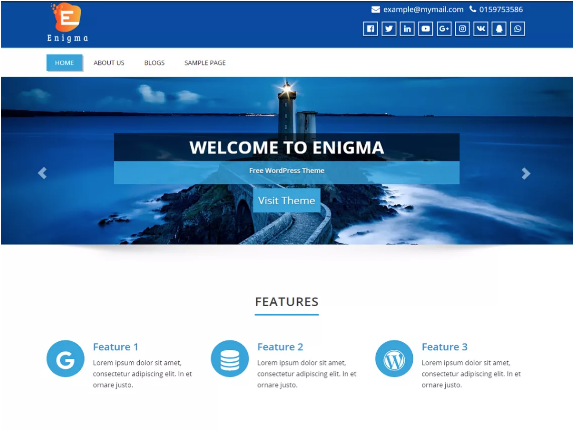 temi wordpress gratis: enigma