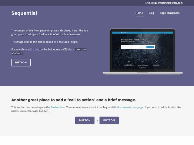 Template gratis wordpress: sequential