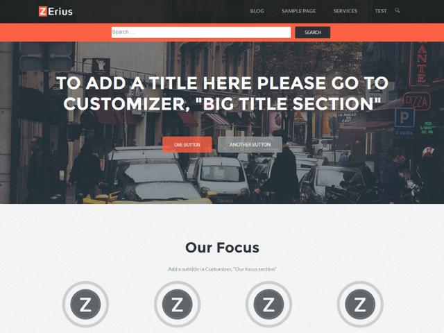 Wordpress temi gratis: zerius