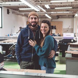 Ruggero Frigoli e Alessandra Renis, founder di Tonki